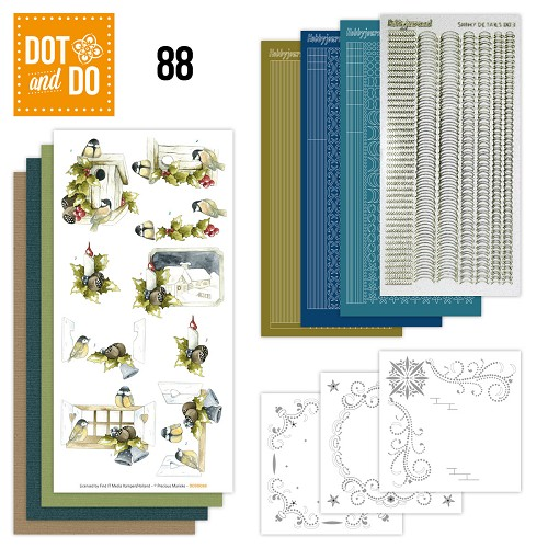Card Deco - Kaartenpakketten - Dot & Do - No. 88 - Kerstmix - DODO088