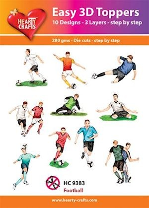 Hearty Crafts - Easy 3D Toppers - Football - HC9383