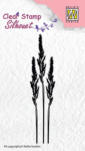 Nellie Snellen - Clearstamp - Silhouet - Ears of Grass-1 - SIL001