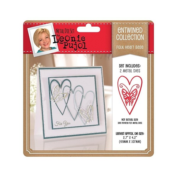 Crafter`s Companion - Die - Leonie Pujol - Entwined Collection - Folk Heart Base