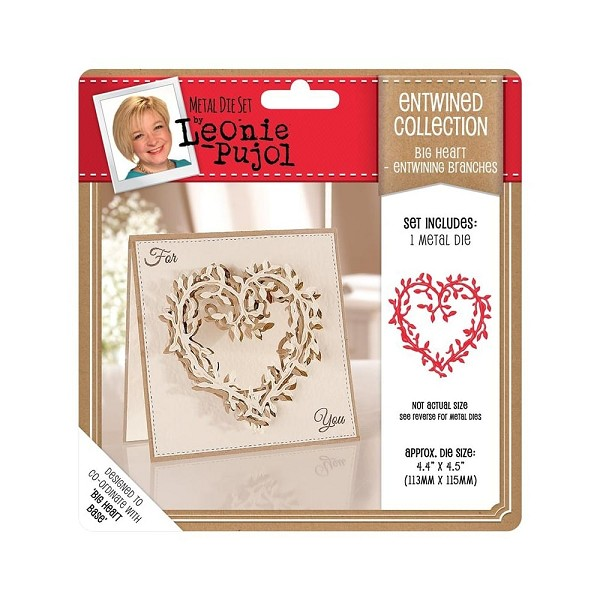 Crafter`s Companion - Die - Leonie Pujol - Entwined Collection - Big Heart - Entwinning Branches
