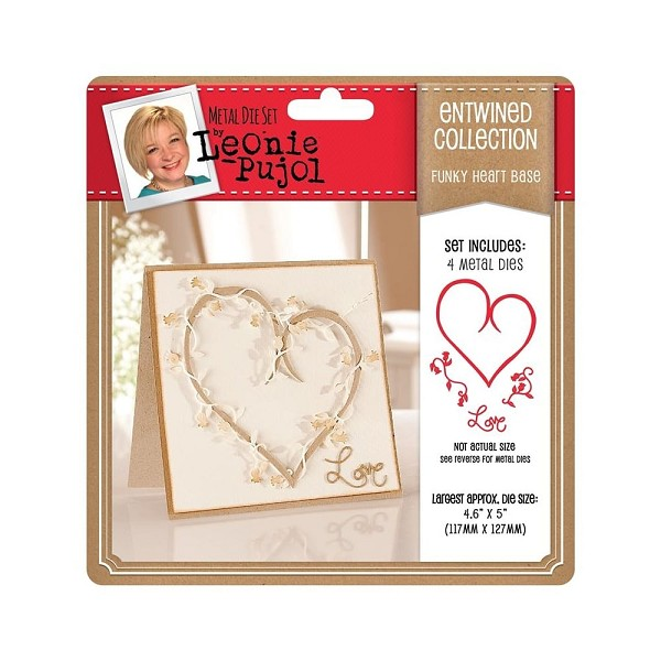 Crafter`s Companion - Die - Leonie Pujol - Entwined Collection - Funky Heart - Base