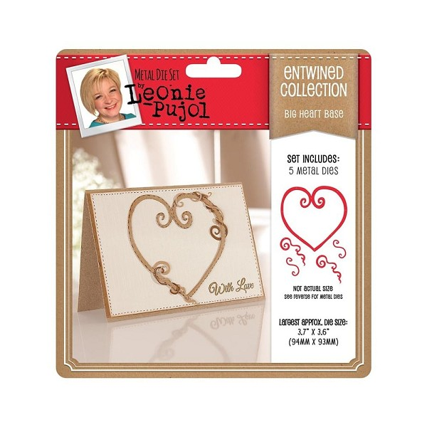 Crafter`s Companion - Leonie Pujol - Die - Entwined Collection - Big Heart - Base - LP-MD-E-BIGHB