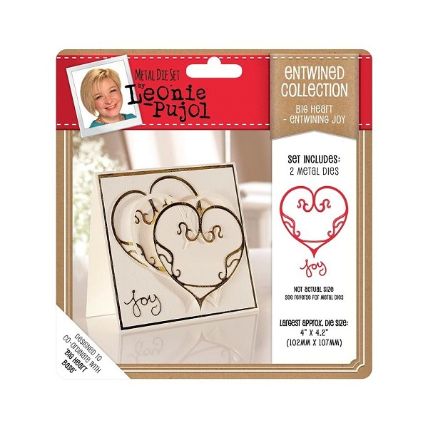 Crafter`s Companion - Die - Leonie Pujol - Entwined Collection - Big Heart - Entwining Joy