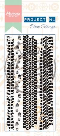 Marianne Design - Project NL - Clearstamp - Border - Tracks - PL1520