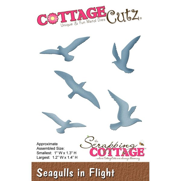 Cottage Cutz - Die - Seagulls in flight - CC-122