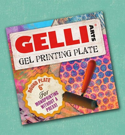 "Gelli Arts - Mixed Media - Gel Printing Plates - Rond - 6""inch - 10932"