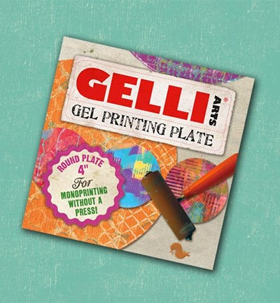 "Gelli Arts - Mixed Media - Gel Printing Plates - Rond - 4""inch"