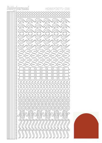 Hobbyjournaal - Stickervel - Hobbydots - Serie 18 - Mirror: Christmas red