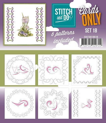 Card Deco - Stitch & Do - Oplegkaarten - Cards only - Set 18 - COSTDO10018