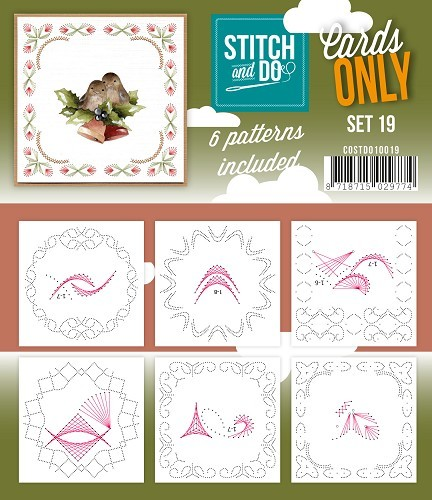 Card Deco - Stitch & Do - Oplegkaarten - Cards only - Set 19 - COSTDO10019