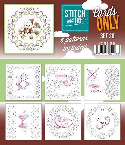 Card Deco - Stitch & Do - Oplegkaarten - Cards only - Set 20 - COSTDO10020
