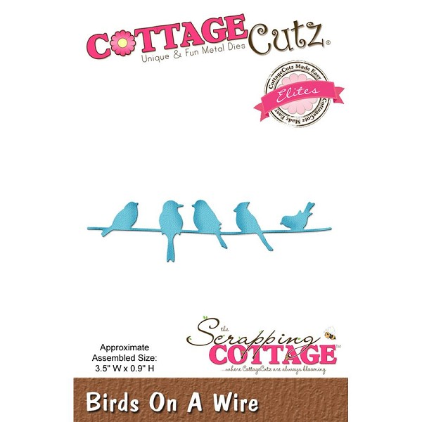 Cottage Cutz - Die - Birds on a Wire - CCE-409