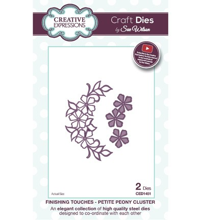 Creative Expressions - Die - The Finishing Touches Collection - Petite Peony Cluster - CED1451