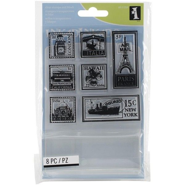 Inkadinkado - Clearstamp - Travel Postage - 60-31259