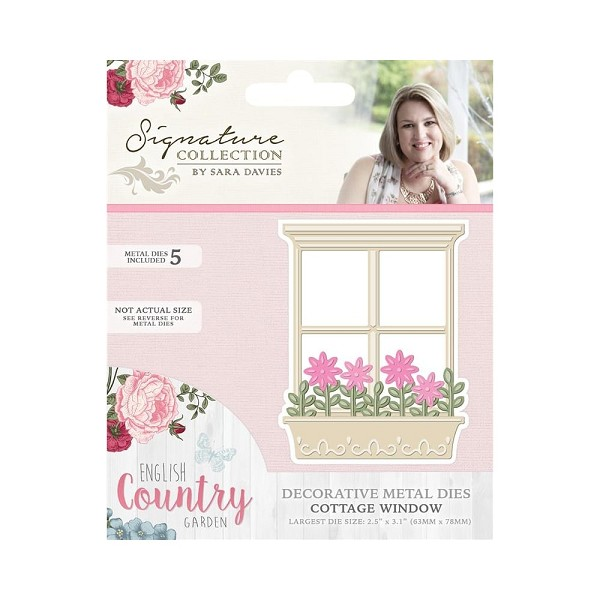 Crafter`s Companion - Sara Davies - Die - English Country Garden - Cottage Window - S-ENG-MD-WIND