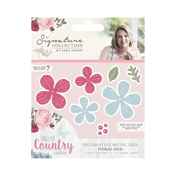 Crafter`s Companion - Sara Davies - Die - English Country Garden - Floral duo - S-ENG-MD-DUO
