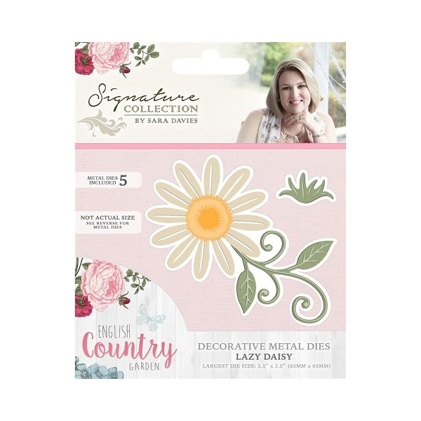 Crafter`s Companion - Sara Davies - Die - English Country Garden - Lazy daisy - S-ENG-MD-DAIS
