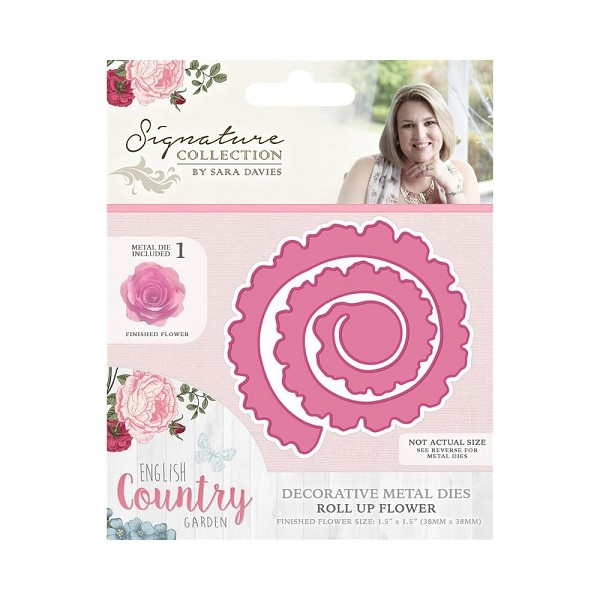 Crafter`s Companion - Sara Davies - Die - English Country Garden - Roll up flower - S-ENG-MD-RUFL
