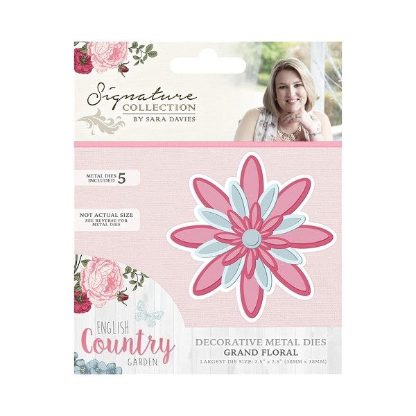 Crafter`s Companion - Sara Davies - Die - English Country Garden - Grand floral - S-ENG-MD-FLO