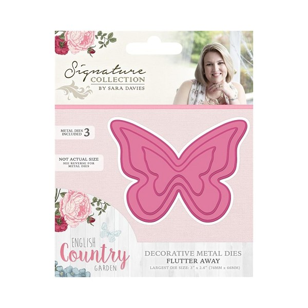 Crafter`s Companion - Sara Davies - Die - English Country Garden - Flutter away - S-ENG-MD-AWAY