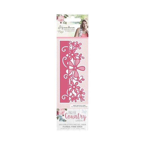 Crafter`s Companion - Sara Davies - Die - English Country Garden - Floral vine edge - S-ENG-MD-VINE