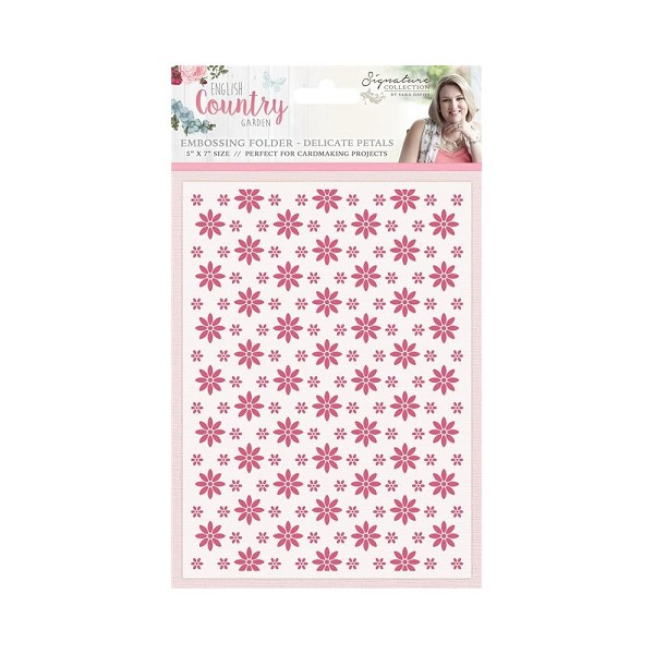 Crafter`s Companion - Sara Davies - Embossingfolder - Delicate Patals - S-ENG-EF5-PET