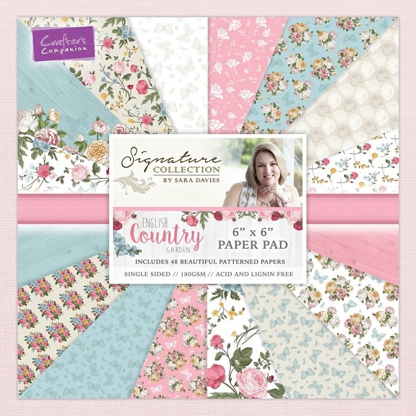 Crafter`s Companion - Sara Davies - Paperpack - English country garden - S-ENG-PAD6