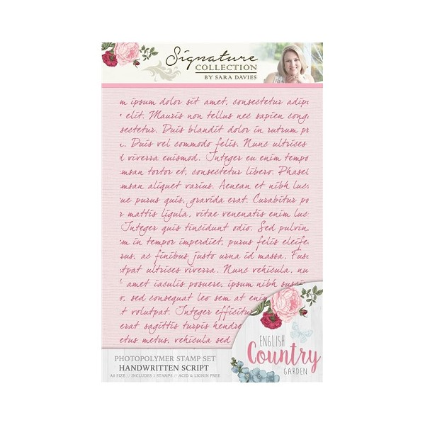 Crafter`s Companion - Sara Davies - Clearstamp - English country garden - Handwritten script