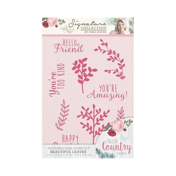 Crafter`s Companion - Sara Davies - Clearstamp - English country garden - Beautiful leaves