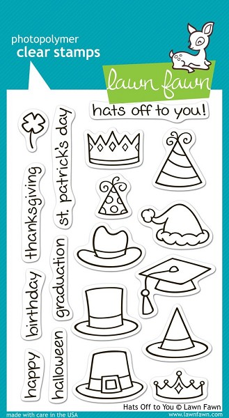 Lawn Fawn - Clearstamps - Hats off to You - LF0313
