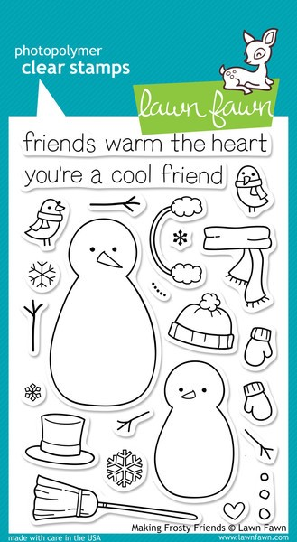 Lawn Fawn - Clearstamps - Making Frosty Friends - LF362
