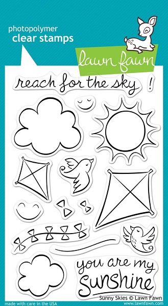 Lawn Fawn - Clearstamps - Sunny Skies - LF390