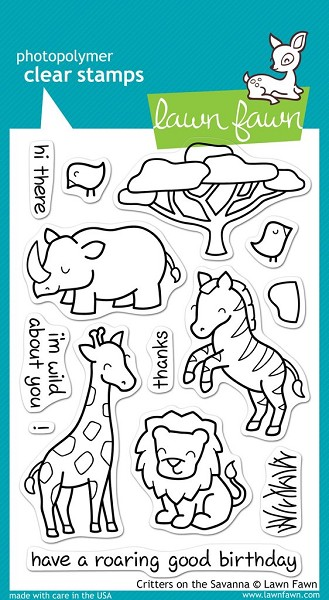 Lawn Fawn - Clearstamps - Critters on the Savanne - LF448