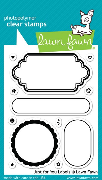 Lawn Fawn - Clearstamps - Just for you labels - LF1132