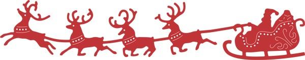 Cheery Lynn Design - Die - Santa`s Sleigh and Reindeer - B326