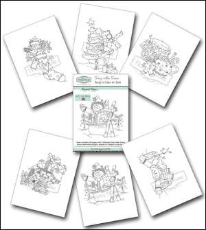 The Hobby House - Daisy Mae draws - Ready to Colour Art Book - Warmest Wishes - HHABWW