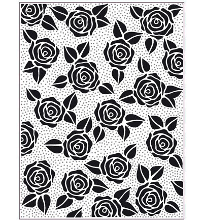 Creative Expressions - PinPoint Embossingfolder - Rose Blooms - EFPP-009