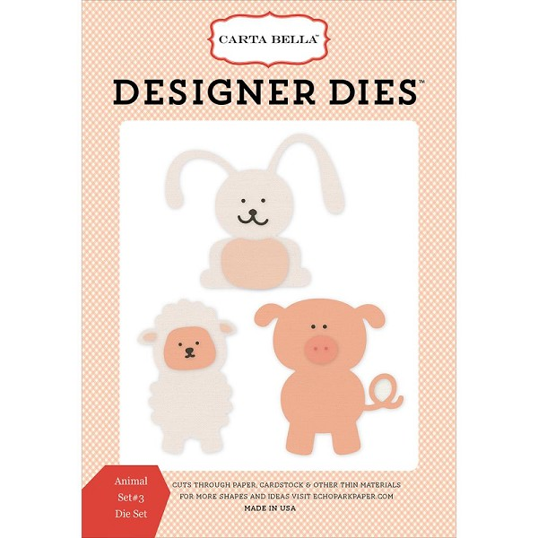 Carta Bella - Die - Cutting - Aminal Set #3 - CBIB51043