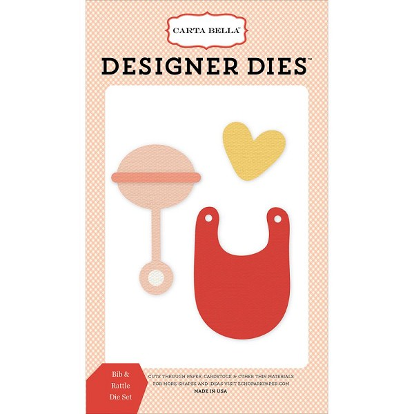 Carta Bella - Die - Cutting - Bib & Rattle - CBIB51041