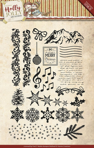 Yvonne Creations - Clearstamp - Holly Jolly - YCCS10025