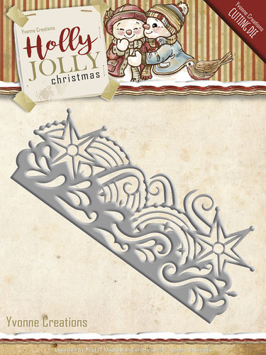 Card Deco - Yvonne Creations - Die - Holly Jolly - Snowflake Border