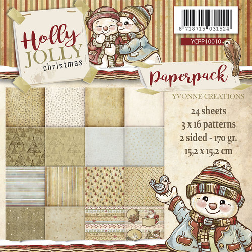 Yvonne Creations - Paperpack - Holly Jolly - YCPP10010
