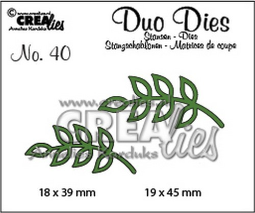 Crealies - Die - Duo Dies - No. 40 - CLDD40