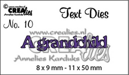 Crealies - Die - Tekststans - English Text - A grandchild - CLTD10
