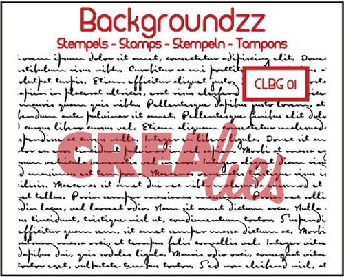 Crealies - Clearstamp - Backgroundzz - Old handwriting - CLBG01
