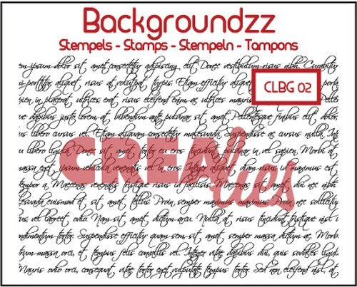 Crealies - Clearstamp - Backgroundzz - Curly handwriting - CLBG02
