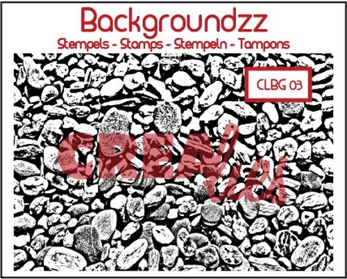 Crealies - Clearstamp - Backgroundzz - Cobbles - CLBG03