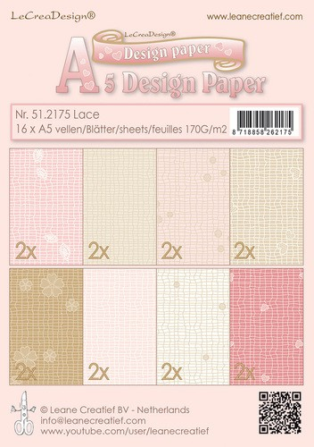 Leane Creatief - Paperpack - Design Paper - Lace - 51.2175