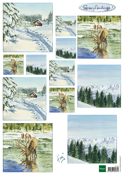 Marianne Design - Tiny`s - 3D-knipvel A4 - Tiny`s Winter Landscapes - IT587